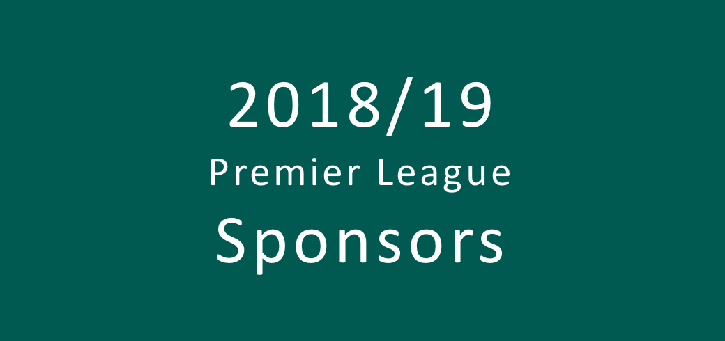 Overview of the 2018/2019 Premier League sponsors