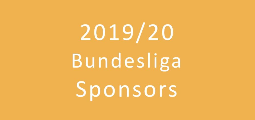Overview of the 2019/2020 Bundesliga sponsors