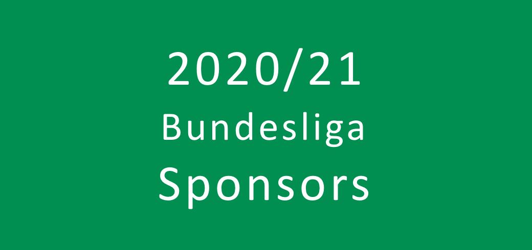 Overview of the 2020/2021 Bundesliga sponsors